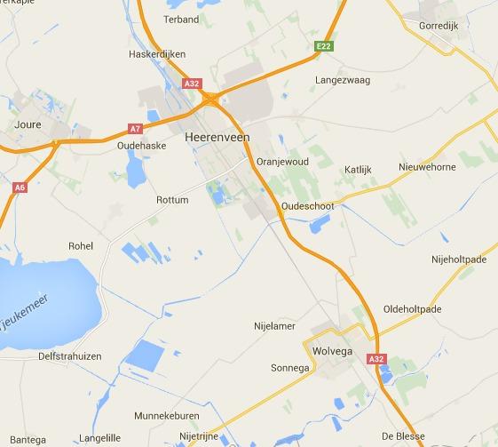 Kaart Thuiskapster Mieneke Heerenveen